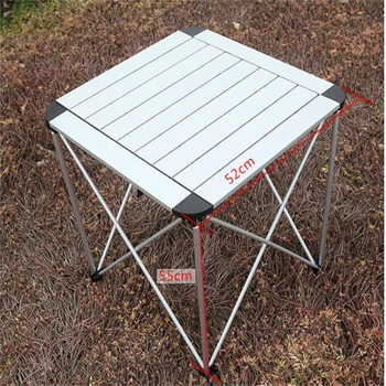 52*55CM Aluminum Alloy Folding Table Portable Outdoor Camping Table Barbecue Table Ultra-Light Picnic Desk Advertising Desk