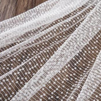 5yards New Transparent Mesh Embroidery French Lace Fabrics 2018 High Quality African Wedding Net Lace Fabric For Nigerian Dress
