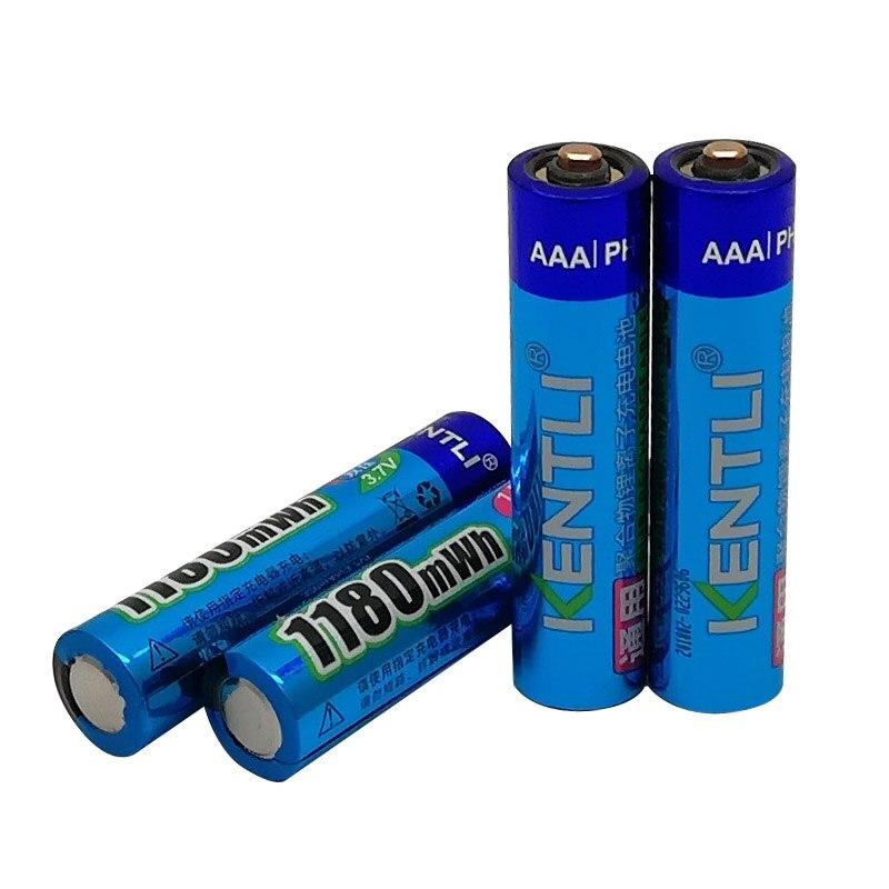 4 шт. KENTLI1.5V AA 2800mWh + 4 шт. AAA 1,5 V 1100mWh литий ионный полимерный перезаряжаемый аккумулятор + зарядное устройство - 3