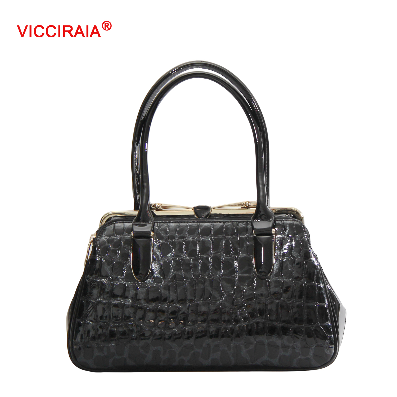 ФОТО VICCIRAIA Fashion Ice Pattern PU Leather Women Handbag New Imitation Leather Lady Bag