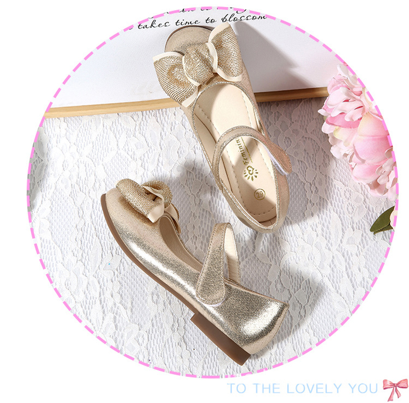Sapatos Com Arco Rosa de Ouro Cores Opcional