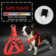 Pet supplies LED luminous dog chest strap in large leash manufacturers direct sale
