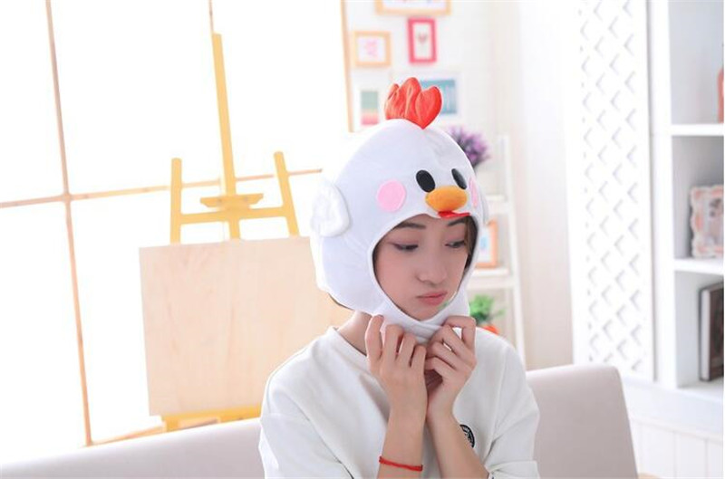 Novelty & Special Use Cute Little Chicken Cock Web Celebrity Cosplay Costumes Props Accessories Hat Star Love Ear Move Jump Fancy Balloon Cap Costume Props