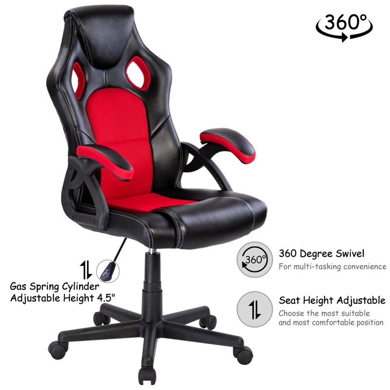 Us 90 11 32 Off Pu Leather Bucket Seat Executive Racing Style Swivel Lift Office Chair Desk Computer Gaming Armchair Silla R Furniture On