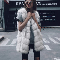 XXXL Korean fashion 2018 faux fur coat plus size casual sleeveless fake fur coats vest elegant office wear autumn winter clothes