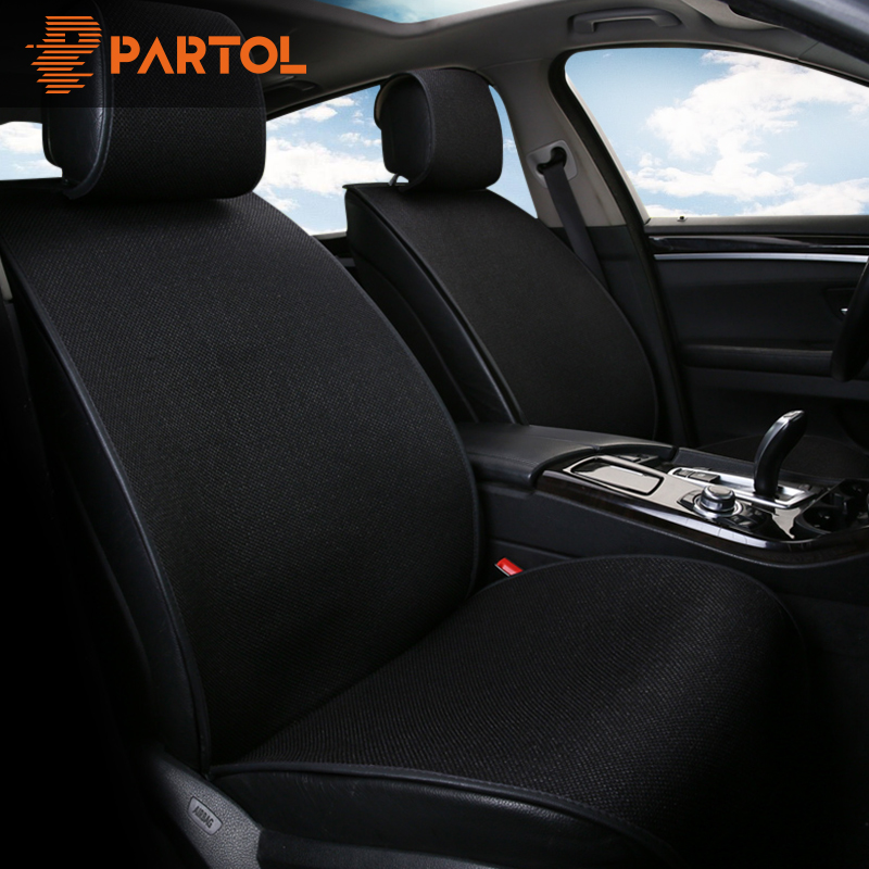 Partol 9 Pcs/Set Breathable Flax Car Seat Cover Pad Universal Automobile Seat Covers Auto Seat Cushion Protector Kit Car-Styling jan garbarek jan garbarek the hilliard ensemble jan garbarek the hilliard ensemble officium 2 lp