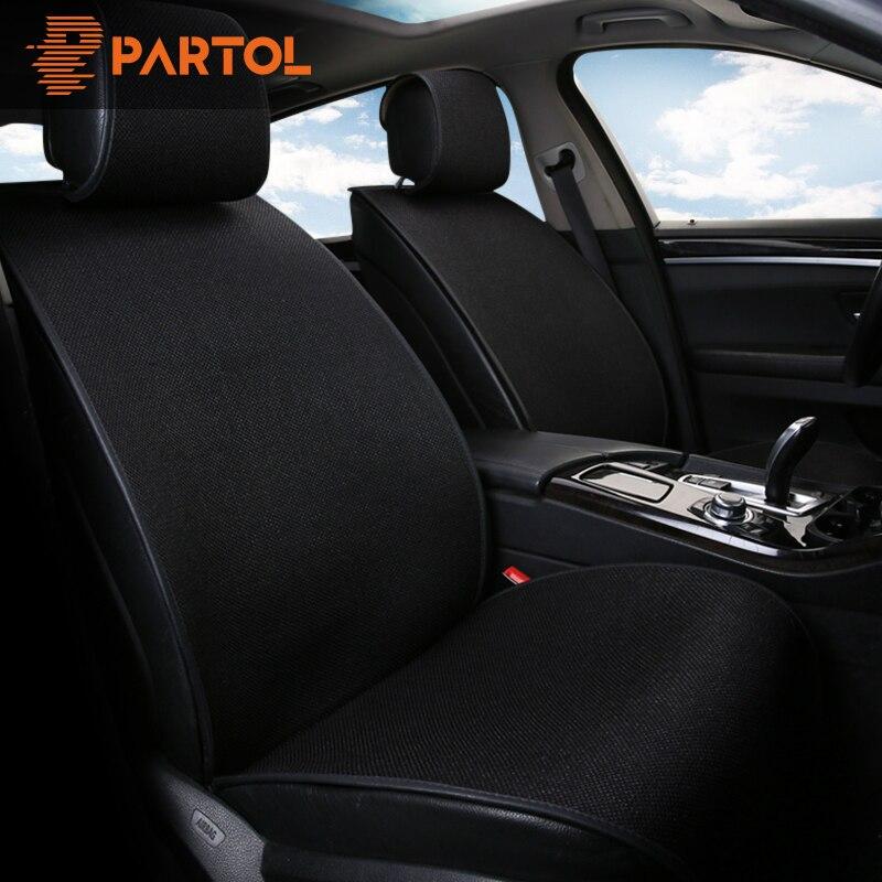 Partol 9 pçs/set Respirável Linho Capa de Almofada Do Assento de Carro Tampas de Assento Auto Almofada Do Assento de Automóvel Universal Protector Kit-Car styling