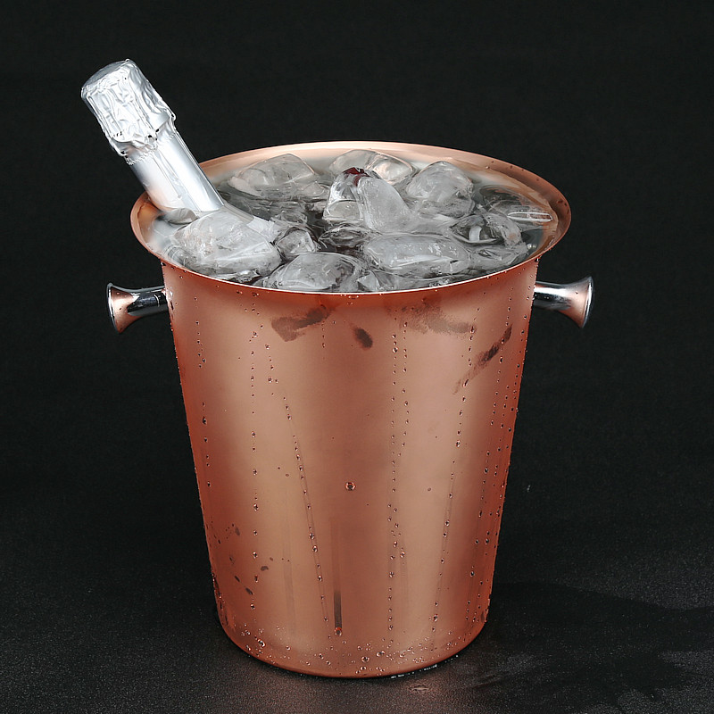 Stainless Steel Ice Bucket 5L Plated Rose Gold Champagne Bucket Copper Plated Ice Bar  Champagne BucketsStainless Steel Ice Bucket 5L Plated Rose Gold Champagne Bucket Copper Plated Ice Bar  Champagne Buckets