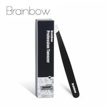 Brainbowแน่นSlant Tweezerคิ้วAnti Static Eyelashes Extension Pinzetteตาสติกเกอร์การประยุกต์ใช้ผมเครื่องมือ