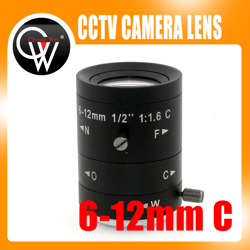 6-12mm LENS C Mount Mega Pixel HD Industrial lens Vari-Focal Manual Iris CCTV Lens For CCTV Camera цена