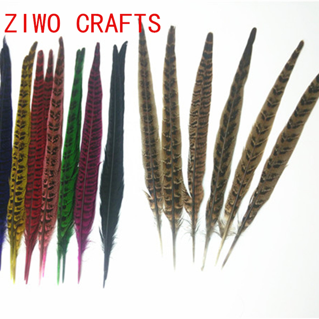 50 Pieces Of High Quality Natural Pheasant Feathers 28 35cm Diy
