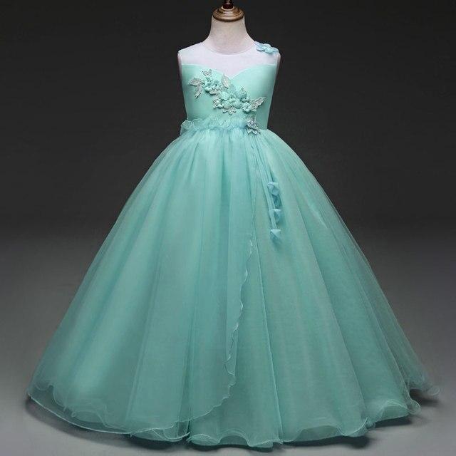 Kids Girls Dresses Wedding Party Flower Girl Dress Princess Pageant ...