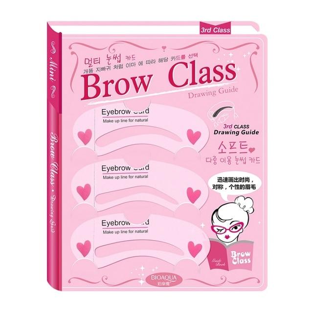 Thrush Card Threading 3Pcs/Set Eyebrow Makeup Tools Threading Artifact Thrush Aid Card Eyebrows Mold Cosmetic Accessories 2