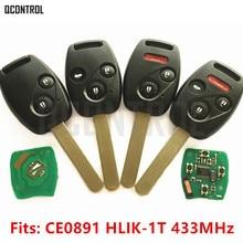 QCONTROL Auto Chiave A Distanza Vestito per Honda CE0891 HLIK 1T Accord Element Pilot CR V HR V Fit Insight Città del Jazz Odyssey Fleed 433 MHz