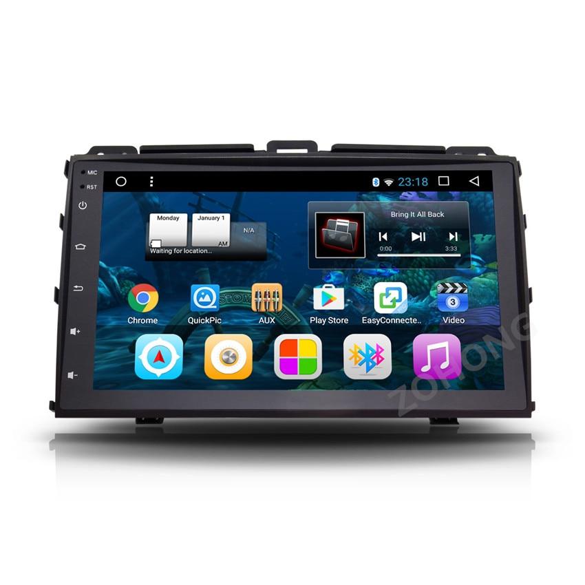 imágenes para 9 pulgadas Android 6.0 coches Reproductor de dvd para Toyota Prado 120 Land cruiser 120 lc120 2004-2009 radio de coche navegación GPS BT WIFI mapa