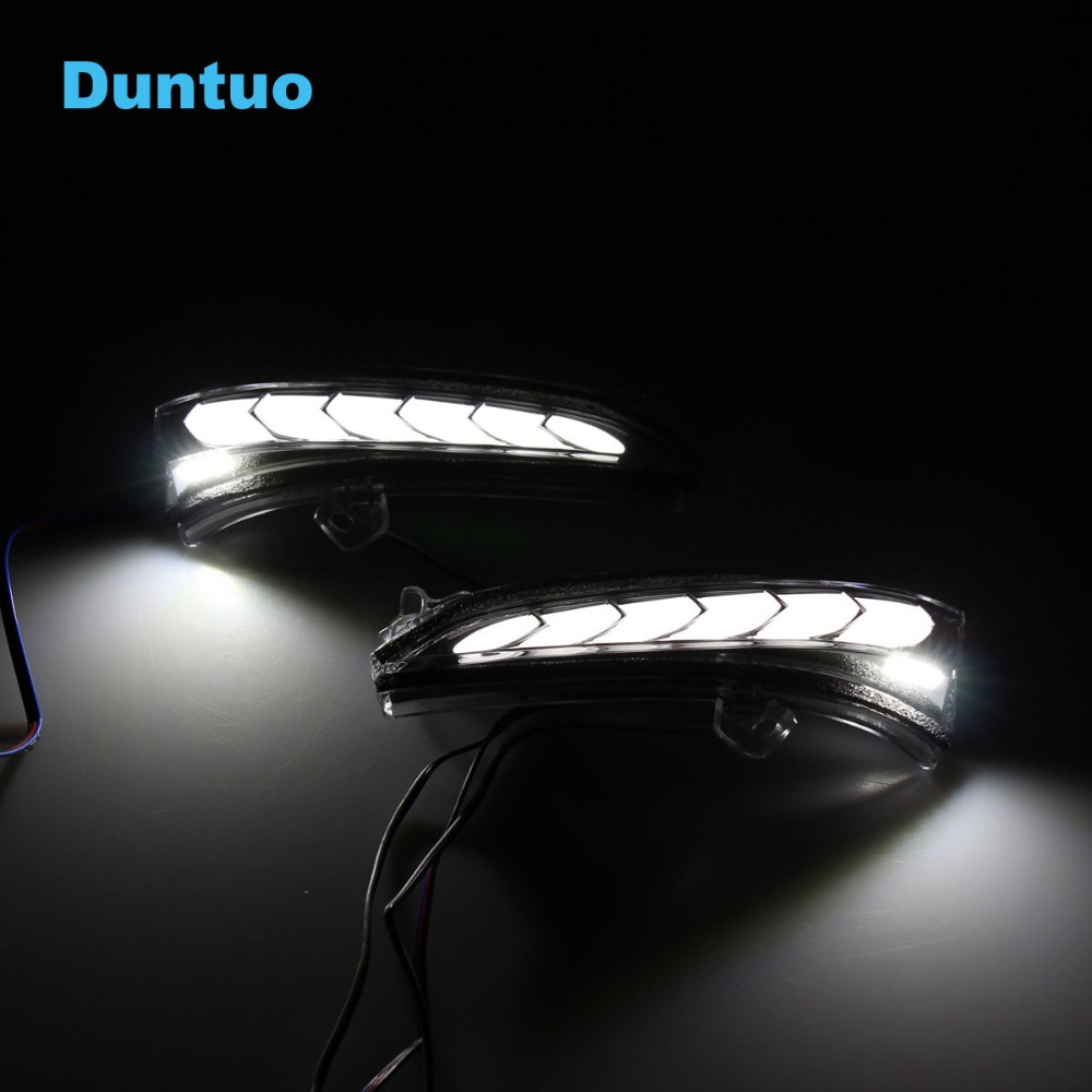 Revolving Dynamic Mirror Lights LED Sequential Flowing Turn Signal Lamp Running Light For 2013 2019 Ford