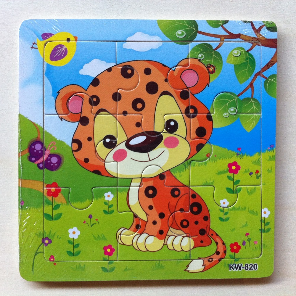 9pcs Aniaml Toy Puzzles Jigsaw Wooden Puzzles For 0 3 Year