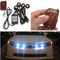 Universal 4em1 12 V 12 W Hawkeye Luzes DRL LED Car Emergência Strobe Sem Fio Carro de Controle Remoto Kit 6000 K acessórios