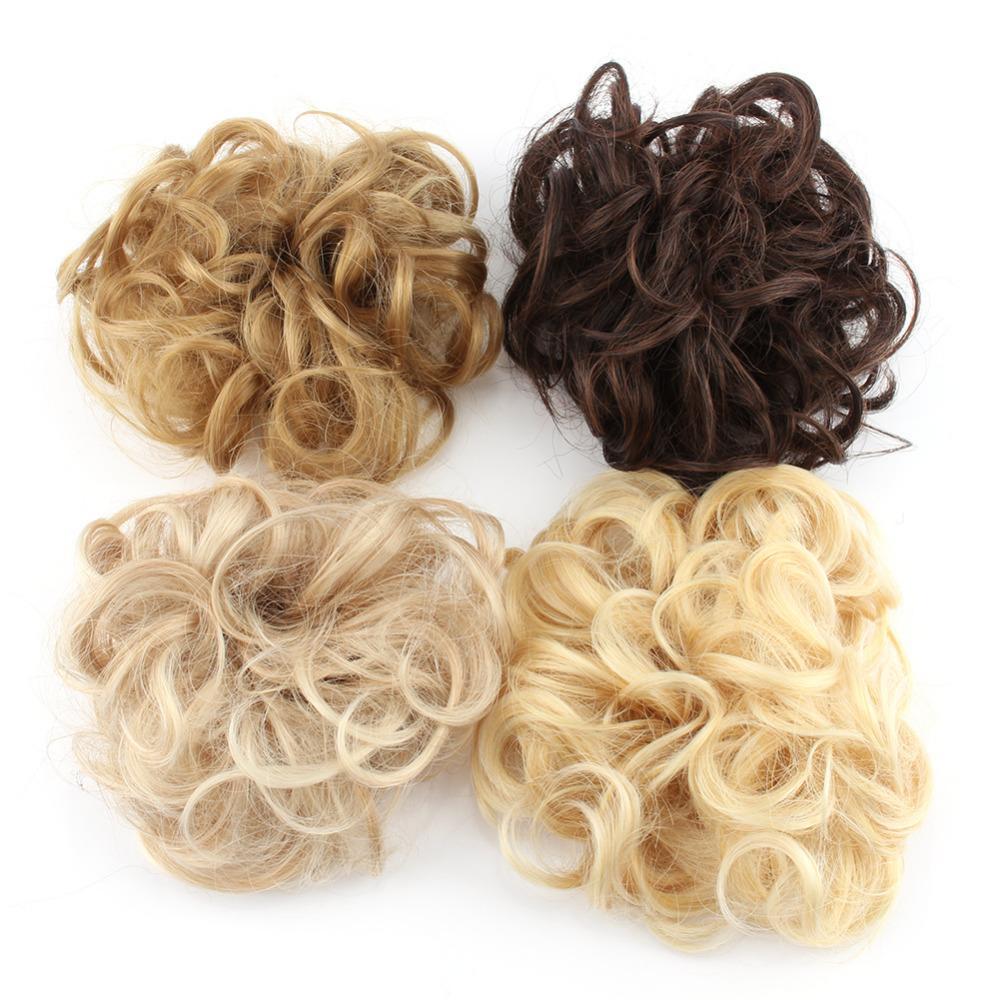 2017 New 1pcs 4 Colors Hair Extension Tail Bride Bun Hairpiece Fake