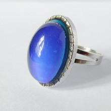 Crystal Jewelry Changing Color Mood Ring Temperature Emotion Feeling MOOD RINGS Adjustable Magic color gems Creative Stone Ring