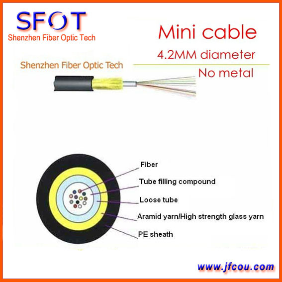 8 core JET mini Micro fiber optic cable