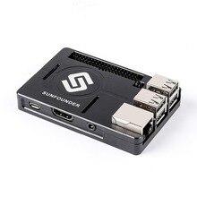 SunFounder Raspberry Pi 3B +, 3, 2, 1B + Enclosure โลหะกรณีกระจายความร้อน Silica Pad Raspberri pi 3 B + กรณี