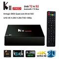 2016 Kii pro Android Tv Box 4 k Android 5.1 2 gb + 16 gb Amlogic S905 DVB-T2 Sintonizador Wifi Apoyo DVB-T2 S2 HDMI2.0 Inteligente Jugador Meidia