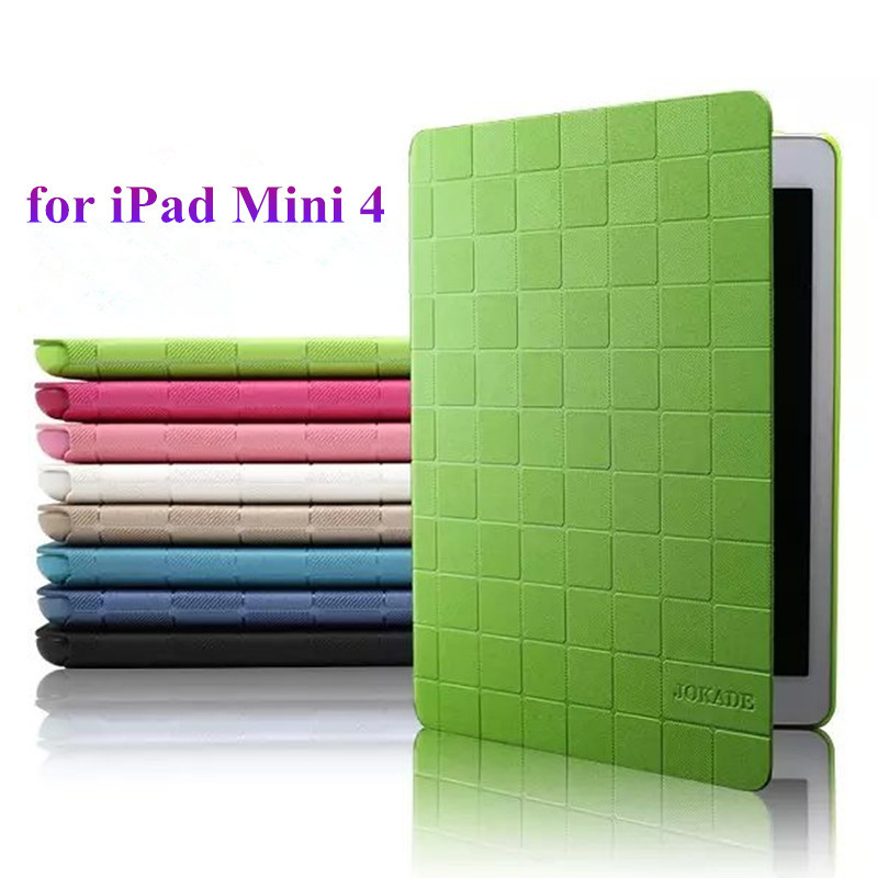 High Quality PU Leather Flip Case for iPad Mini 4 Luxury Brand Smart Cover for iPad Mini 4 Ultra Thin 7.9 Tablet Stand Case jialong mini 4 smart pu leather case for apple ipad mini 4 7 9 tablet flip cover soft tpu back cover cute little girl yao