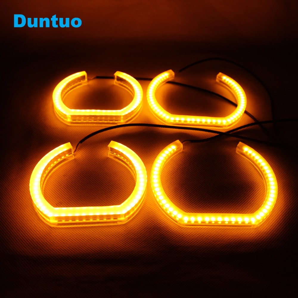 Angel Eyes Crystal Light Turn Signal Light Dual Color Amber DRL For BMW F30 F35 E90 E92 3 Series free shipping 1 set 2x 120mm 2x 128 mm f30 f35 crystal led angel eyes for bmw