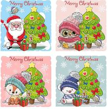 LUVOIZEM Full Square Diamond 5D DIY Painting Christmas Tree Embroidered Mosaic Home Decor for
