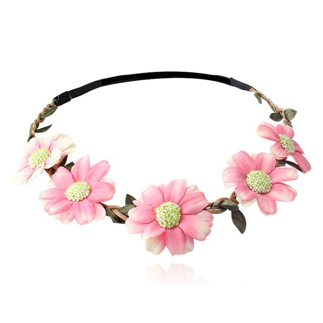6cfcda8aa CFlower Headbands Hair Band Garland Headwear Hair Accessories Women Beach  Flowers Wreath Turban Headwrap Girls Elastic Head Band