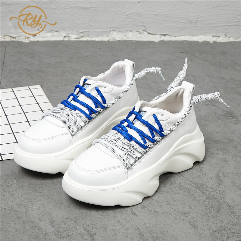 RY-RELAA women sneakers fashion platform sneakers women casual shoes off white shoes 2018 Genuine Leather  shoes women flatformRY-RELAA women sneakers fashion platform sneakers women casual shoes off white shoes 2018 Genuine Leather  shoes women flatform