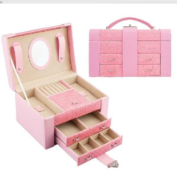 Free shipping new 2013 Europe type double jewelry box wedding gift choice