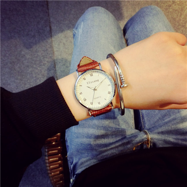 New Arrival ulzzang Leather Strap Quartz Watches Fashion Formal Analog Japan Movement Waterproof Ladies Dress Watch Clock Women 2016 new arrival kezzi brand ladies watch business watches formal analog quartz movement steel strap wristwatches for women gift
