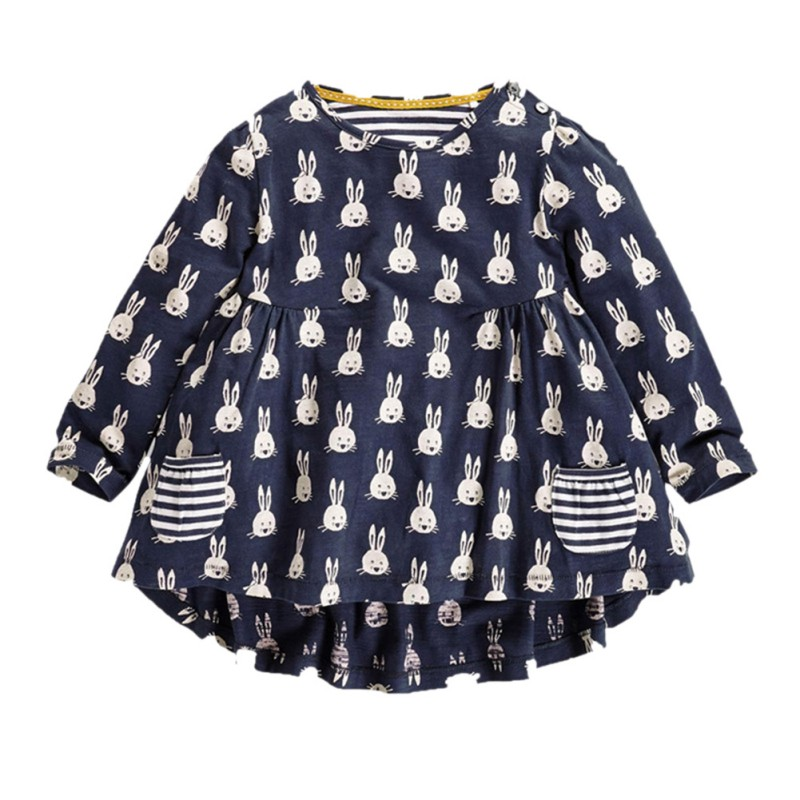 New Fashion Cartoon Rabbit Pattern Toddler TShirt Baby Clothes Girl Long Sleeve Pullover Tops