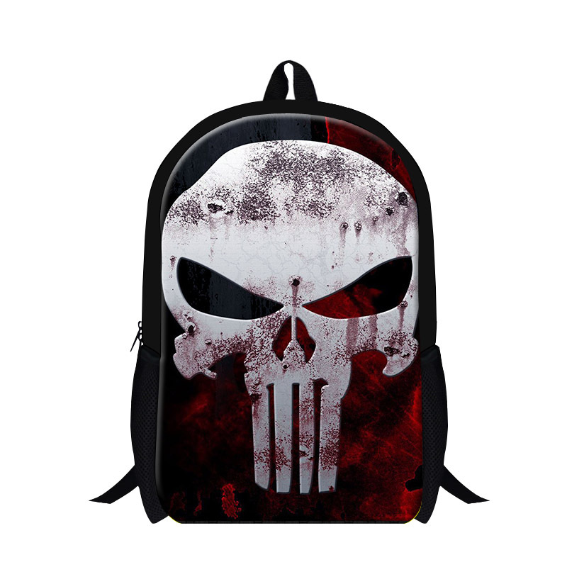 2017 personalized skull backpack for cool men travel,elementary students stylish bag bookbags,womens fashion leisure back pack