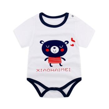 Body dla niemowląt bawełna Baby Boy dziewczyna odzież dla niemowląt kombinezon z krótkim rękawem Body dla niemowląt noworodków odzież dla niemowląt tanie i dobre opinie Dla dzieci Unisex Pasuje prawda na wymiar weź swój normalny rozmiar CGW760716 Moda O-neck TFSCLOIN Cartoon COTTON