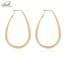 Badu Big Geometric Hoop Earring Punk Style Vintage Fashion Earrings for Women Gold Silver Metal Jewelry Wholesale