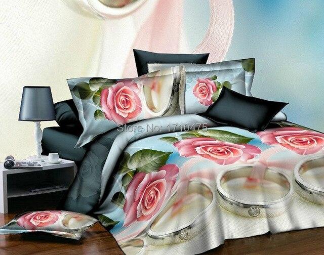 Wonderful 3D Flower Jacquard Trendy Beautiful Hotel Design Bedding Bamboo Comforter  Set Bulk Bed Sheets