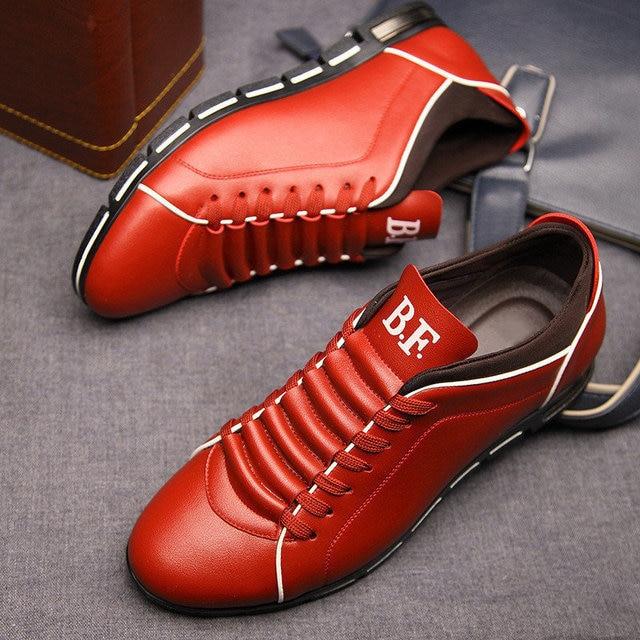 Merkmak Big Size 38-48 Men Casual Shoes Fashion Leather Shoes for Men Summer Men's Flat Shoes Dropshipping 1