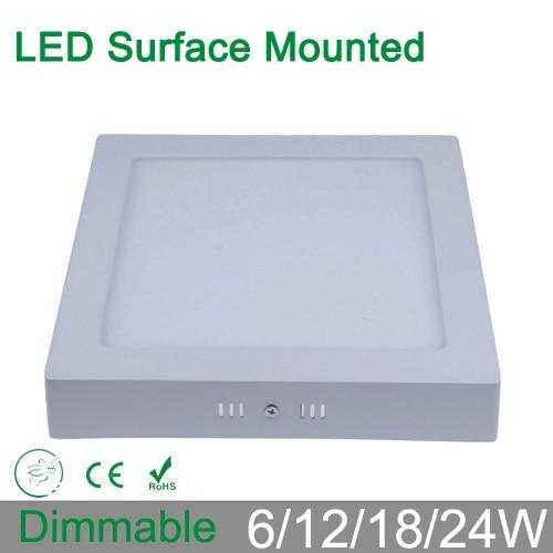Bez střihu 6W 12W 18W 24W stmívatelná povrchová montáž LED - Vnitřní osvětlení