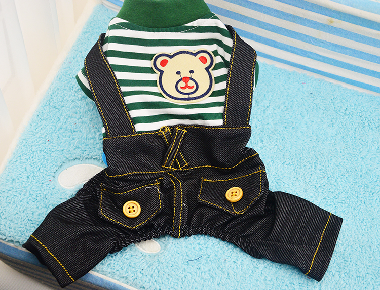1pcs dogs cats classic strip rompers doggy spring autumn tracksuits apparel puppy jumpsuits costume pet dog cat suit clothing