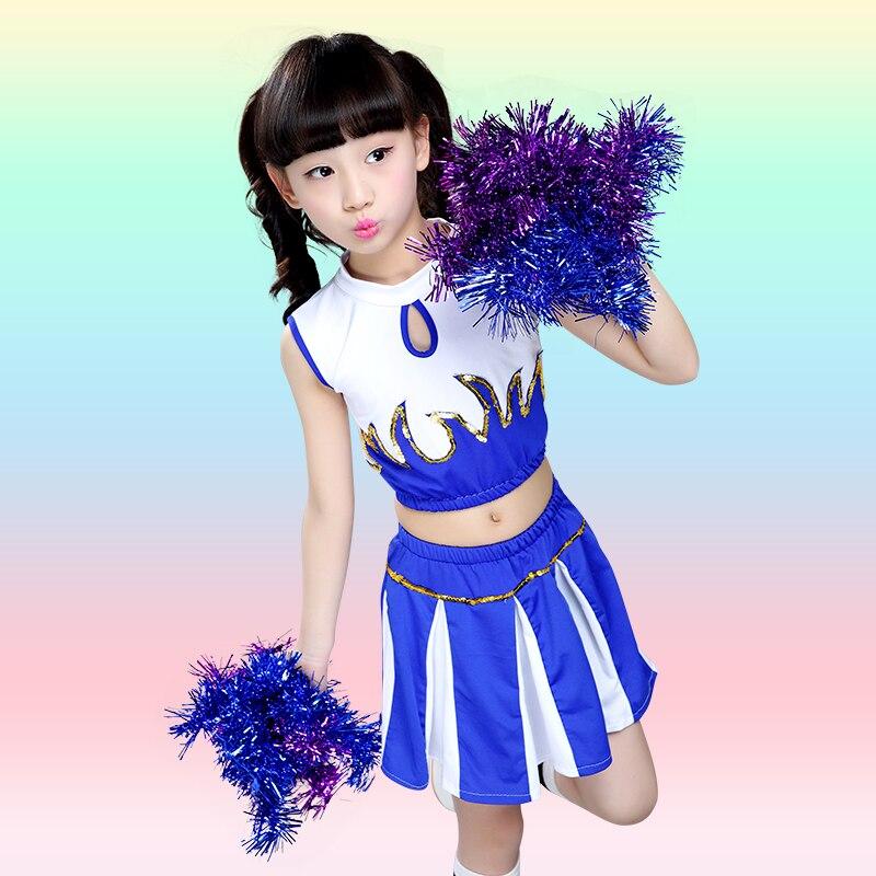 Cheerleading Dance kostym Cheerleader uniform Prestanda Manliga och kvinnliga barnas aerobics Gymnastikskläder med strumpor