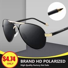 LRDNSD Aviation Metail Frame Quality Leg Alloy Men Sunglasses Polarized Brand Design Pilot Male Sun Glasses Driving