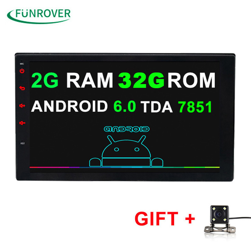 2G 16G Universal 2 Din Android 6 0 Car DVD Player GPS Wifi Bluetooth Radio Quad