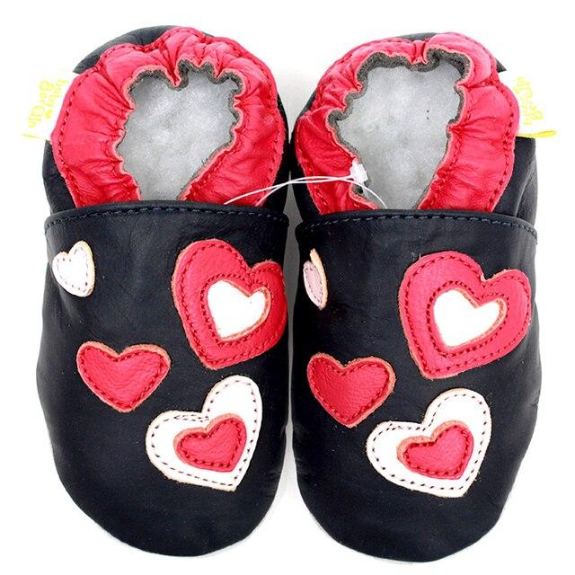 Черный Детская Обувь Девушки Первые Ходоки Новорожденный Девушка Обувь Мягкой Подошвой Из Кожи Мокасины Детская Обувь Детские Тапочки Детей Bebes