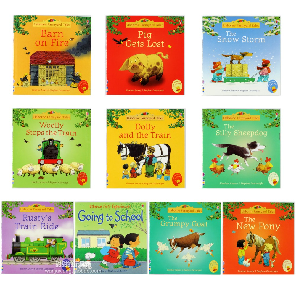 15stk / sett 15x15cm Beste bildebøker for barn og babyberømte historier English Tales Series Of Child Book Farm Story