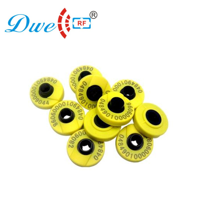 DWE CC RF ID Card 10 Sets Per Lot 134.2khz Long Range Em4305 Fdx-b Rfid Chip Animal Ear Tag Tracking Chip Tags For Pets Animals