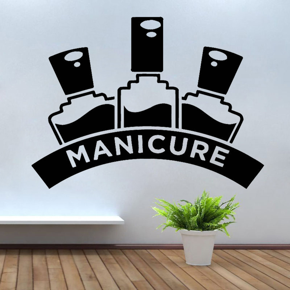 Polish Manicure Wall Stickers Pedicure Beauty Salon Wall