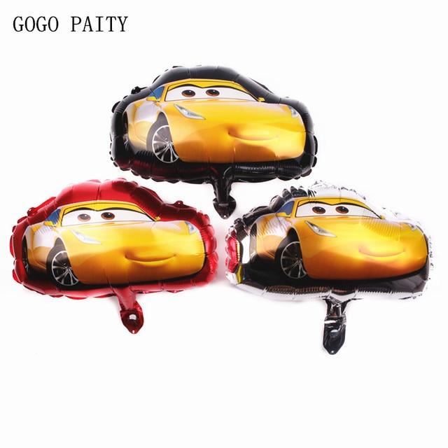 GOGO PAITY Mini McKinnon Car Aluminum Foil Balloon McQueen Auto Aluminum Helium Balloon Children's Birthday Toys Hydrogen